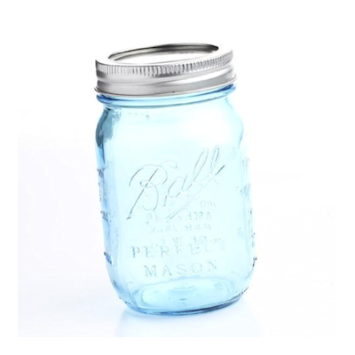 vintage-wedding-blue-mason-jars