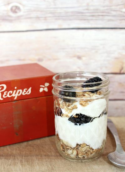 Blackberry Yogurt Parfait w/ Agave Syrup