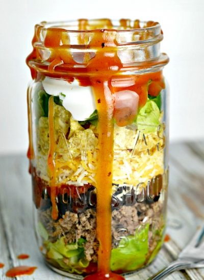 Mason Jar Lunches: Mason Jar Taco Salad Recipe