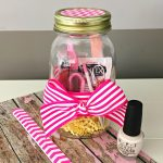 Mason Jar Christmas Gifts: Mani Pedi in a Jar