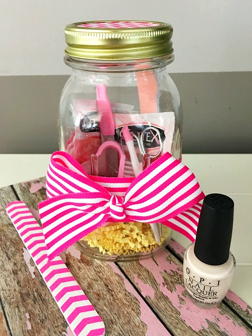 Mason Jar Christmas Gifts Mani Pedi In A Jar Mason Jar Breakfast