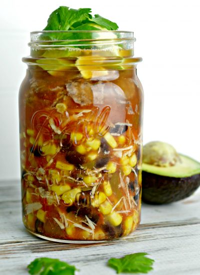 Simple Tortilla Soup Recipe in a Mason Jar