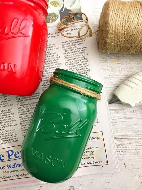Ideas for Mason jar centerpiece step 2
