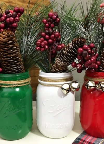 Christmas Mason Jar Ideas: Christmas Mason Jar Centerpiece