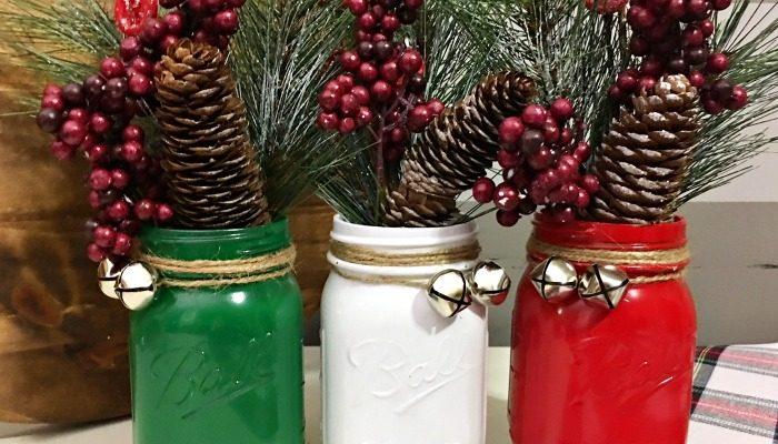 Mason jar Christmas decoration step 4