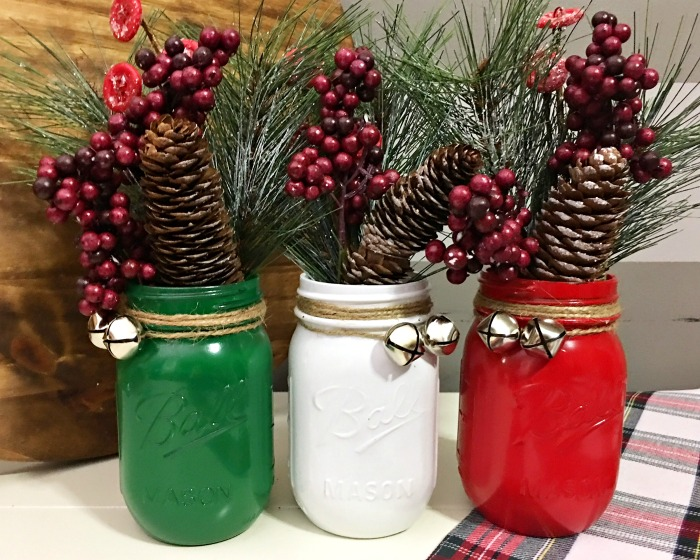 Mason jar Christmas decoration step 4