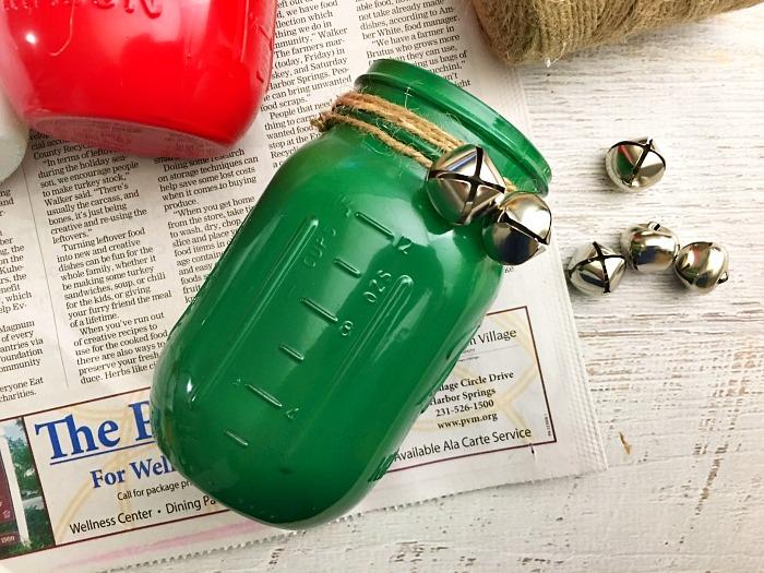 Mason jar crafts Christmas step 3