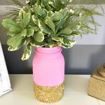 DIY Glitter Mason Jar Centerpiece