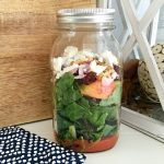 Mason Jar Salad Idea: Apple Harvest Mason Jar Salad Recipe