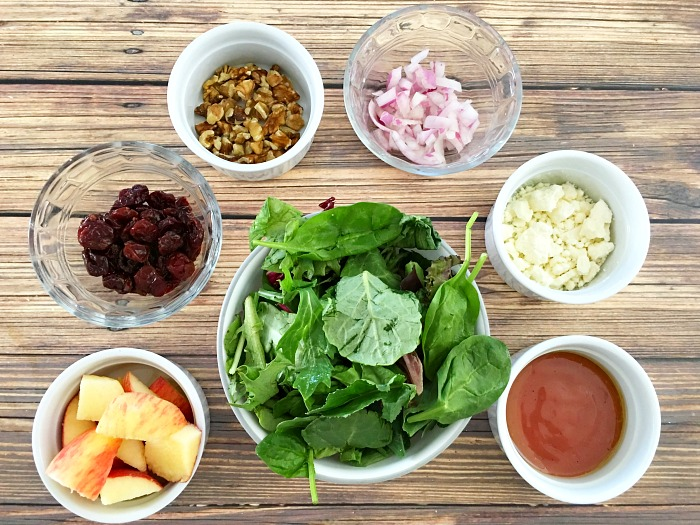 ingredients for best Mason jar salads