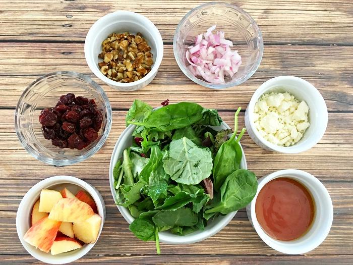 ingredients for best Mason jar salads