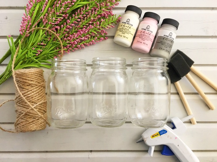 materials for Mason jar wedding centerpiece