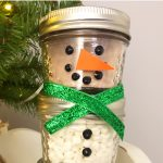 DIY Snowman Mason Jar Hot Chocolate Gift Idea