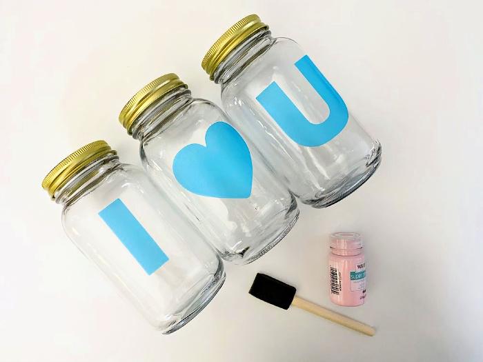 DIY Valentine gift materials