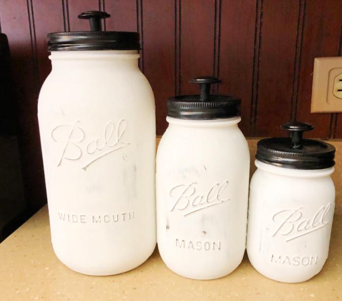 Mason jar canisters