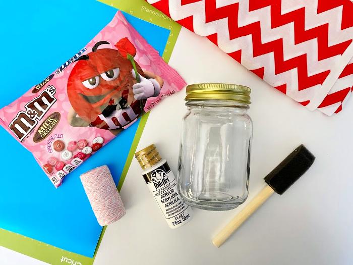 Valentine Mason jars materials