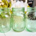 DIY home decor ideas tinted Mason jars