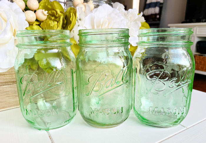 DIY home decor ideas tinted Mason jars
