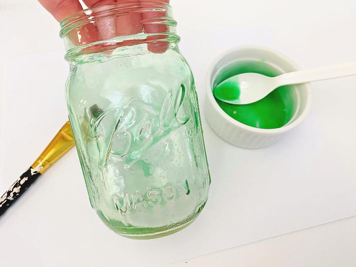 paint Mason jar for home decor ideas