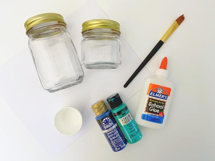 supplies for beach jars tutorial