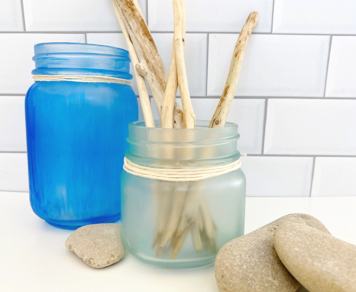 beach jars make beautiful beach house decor